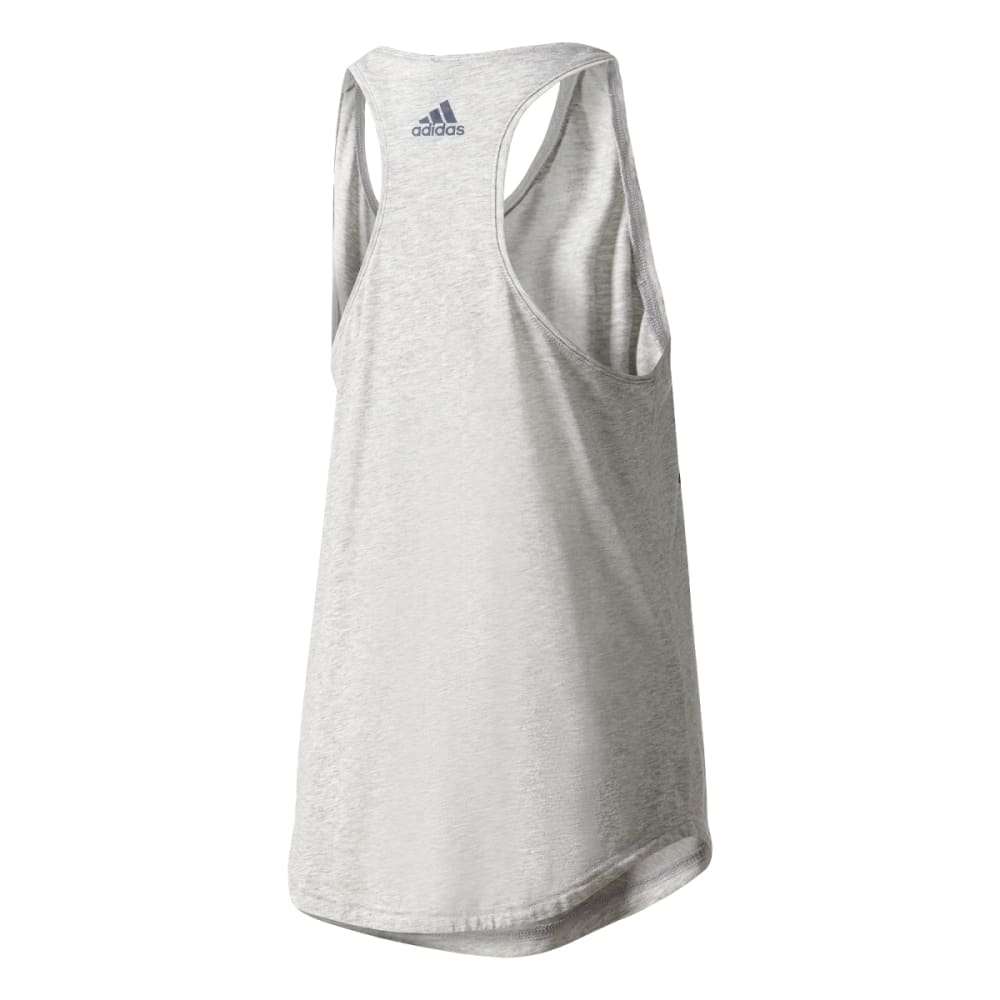 ADIDAS Women's Essentials Linear Loose Tank Top - MGH/COL NVY-S97223