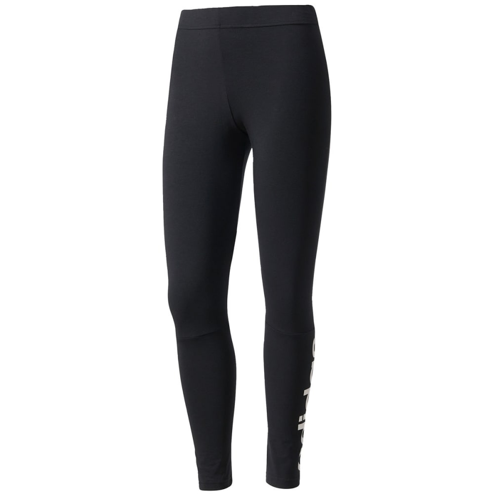 ADIDAS Women's Essentials Linear Logo Leggings - BLK/WHT-S97155