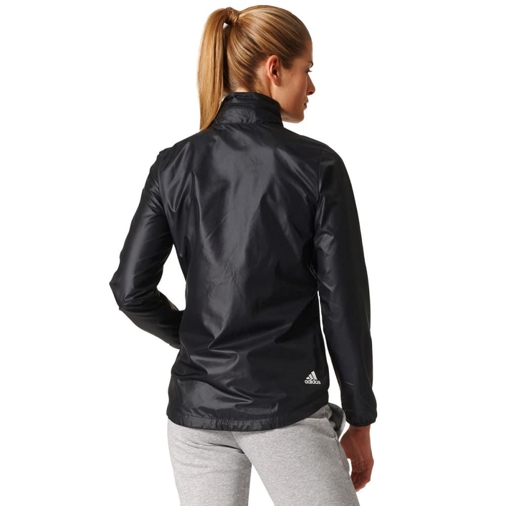 ADIDAS Women's Linear Training Windbreaker - BLK/WHT-BR1096