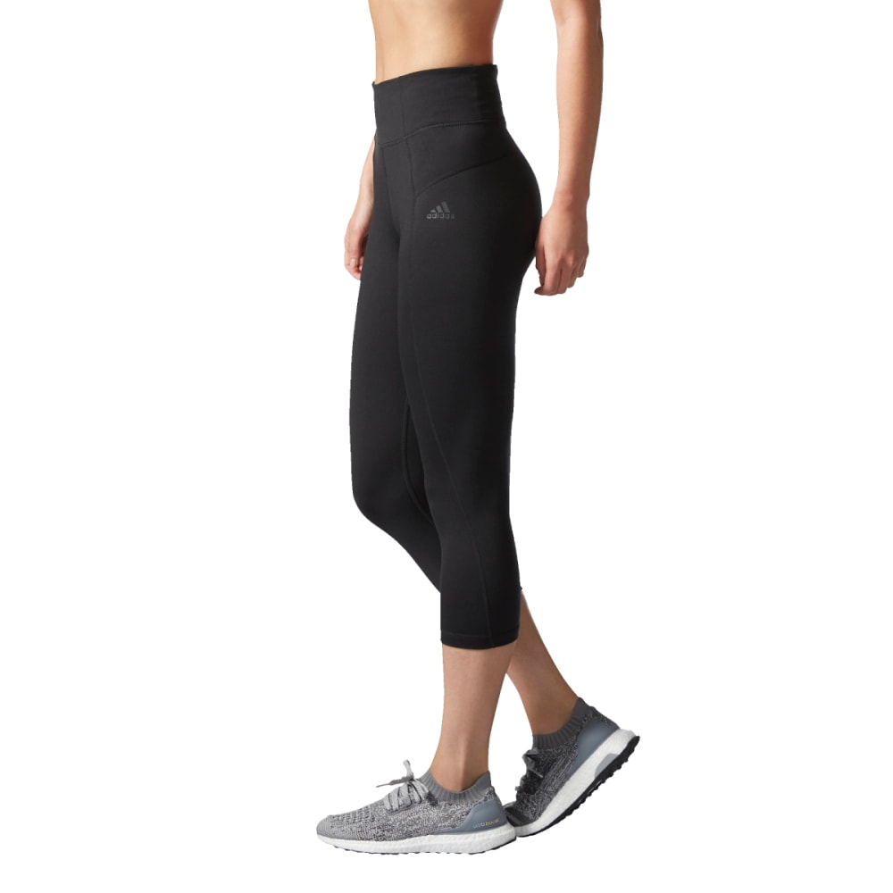 ADIDAS Women's Performer High-Rise Three-Quarter Tights - BLACK-BQ1978