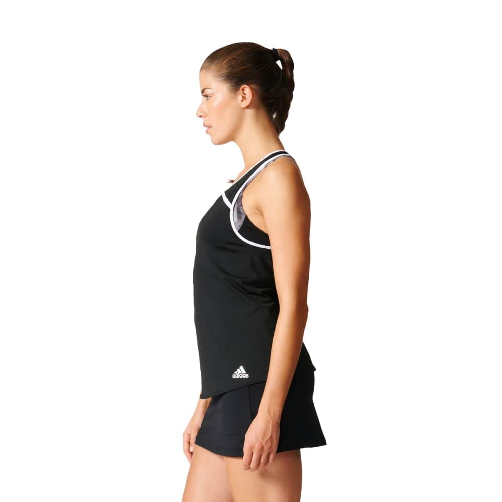 ADIDAS Women's Club Tennis Tank - BLACK/WHITE-BK0717
