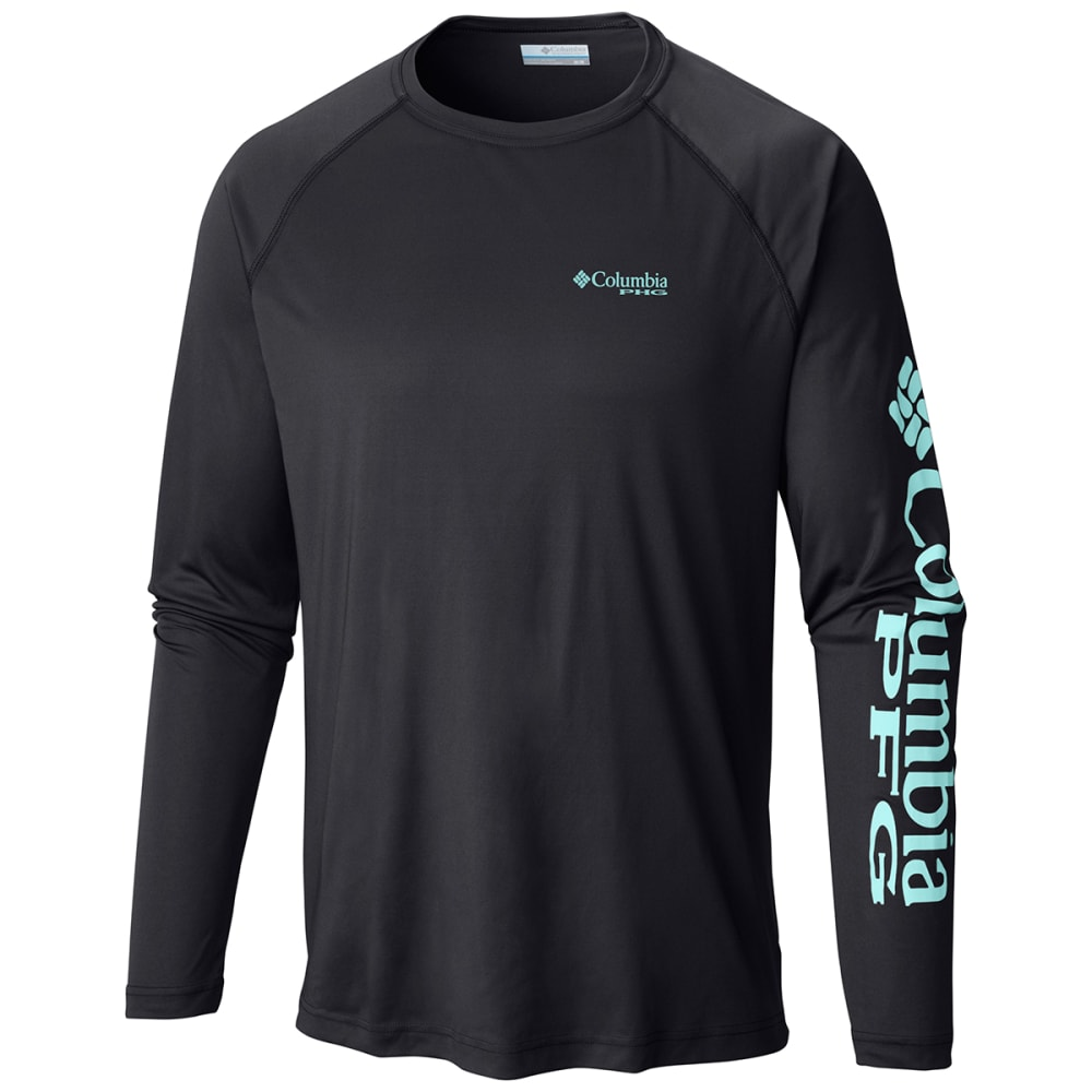 COLUMBIA Men's PFG Terminal Tackle Long-Sleeve Tee - BLK/GULF STREAM-027