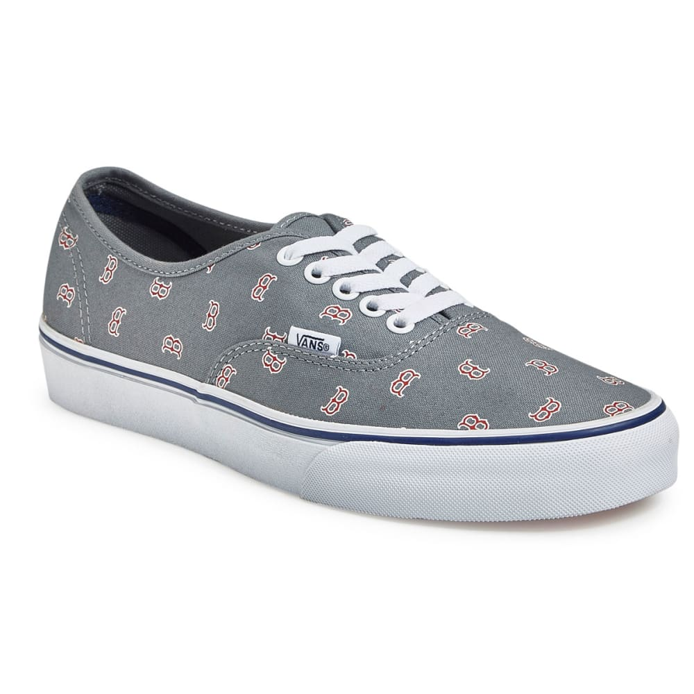 VANS Men's Boston Red Sox MLB Authentic Skate Shoes, Grey - GREY