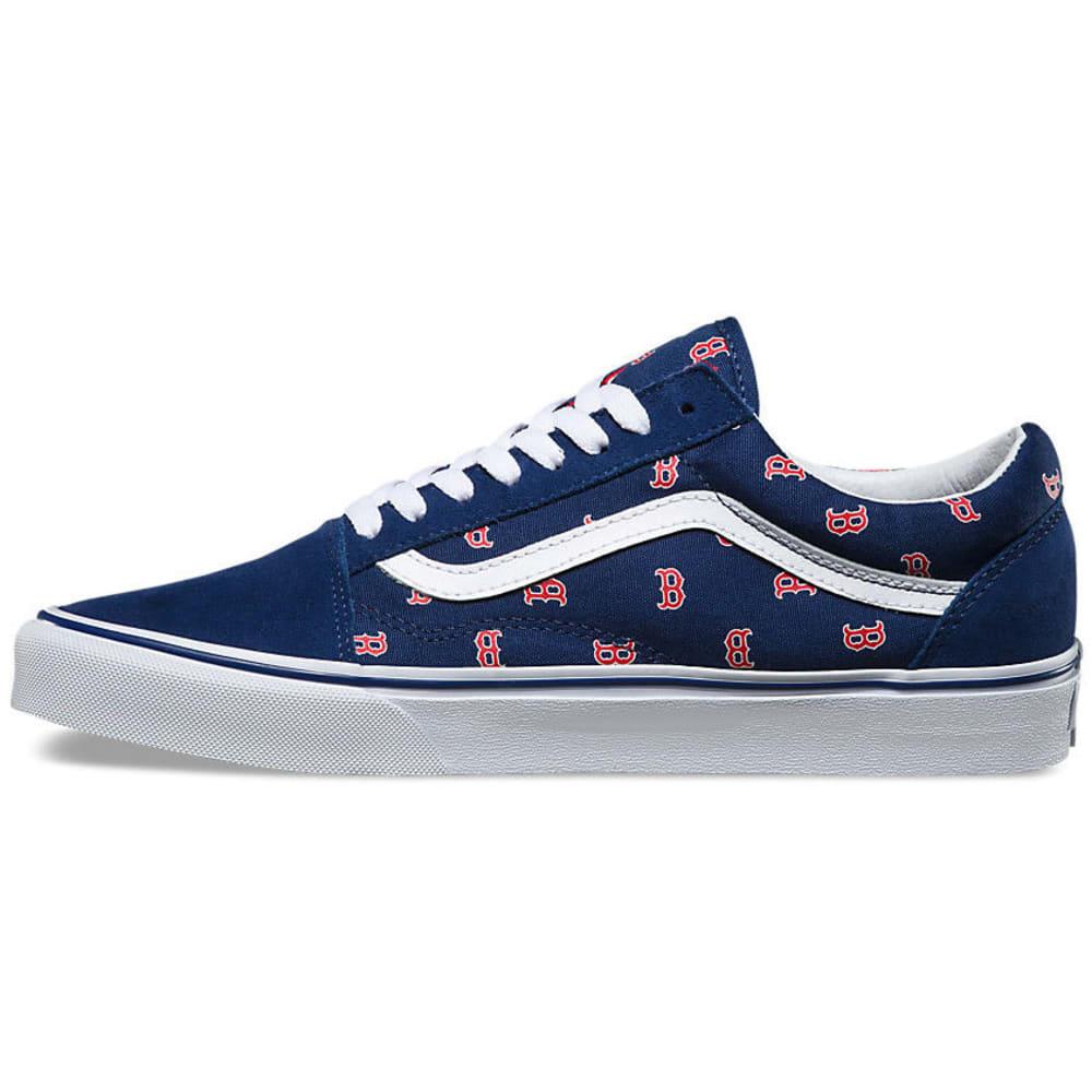VANS Men's Boston Red Sox MLB Old Skool Skate Shoes, Navy - NAVY