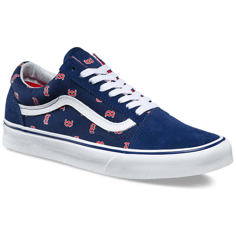 VANS Men's Boston Red Sox MLB Old Skool Skate Shoes, Navy - NAVY