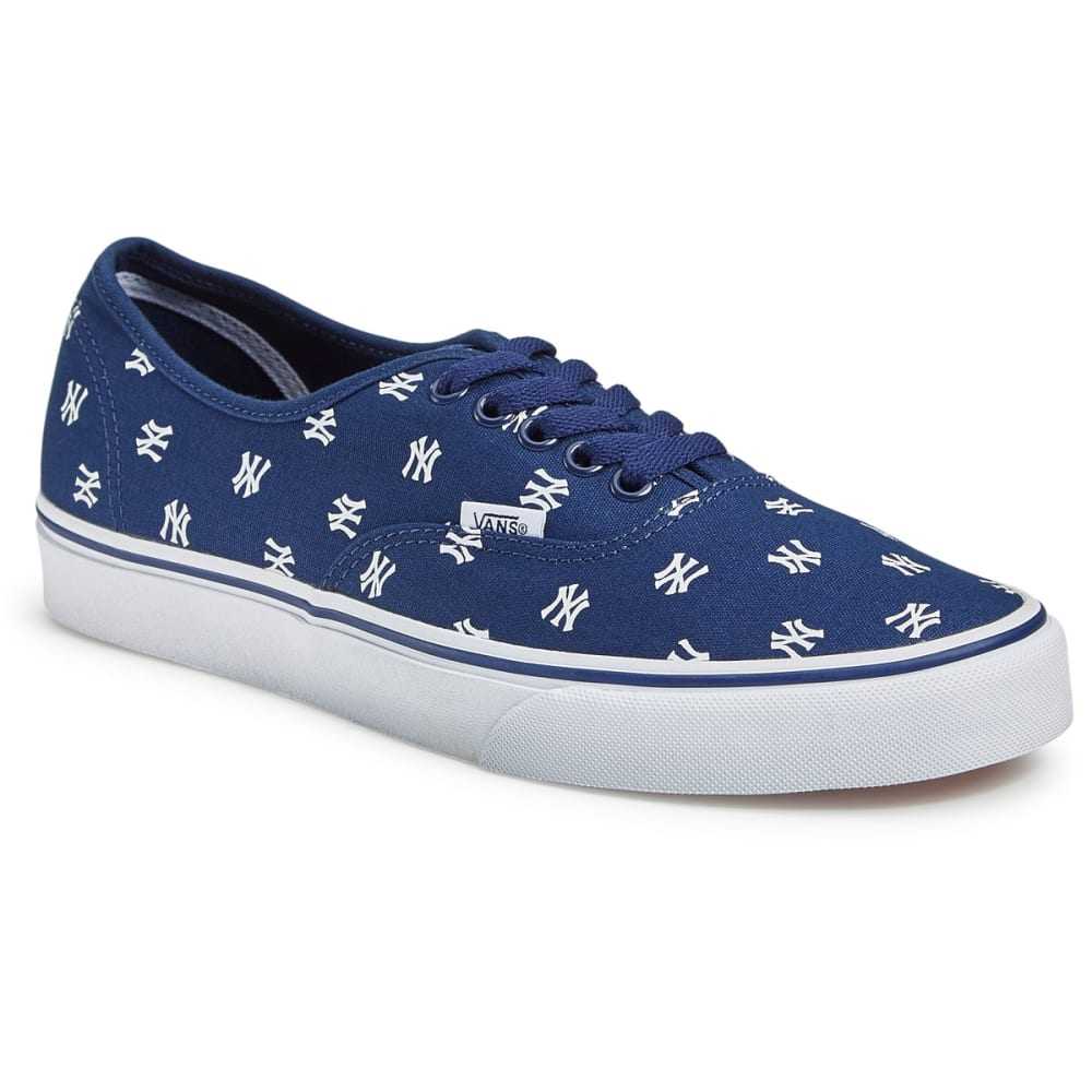 VANS Men's New York Yankees MLB Authentic Skate Shoes, Navy - NAVY