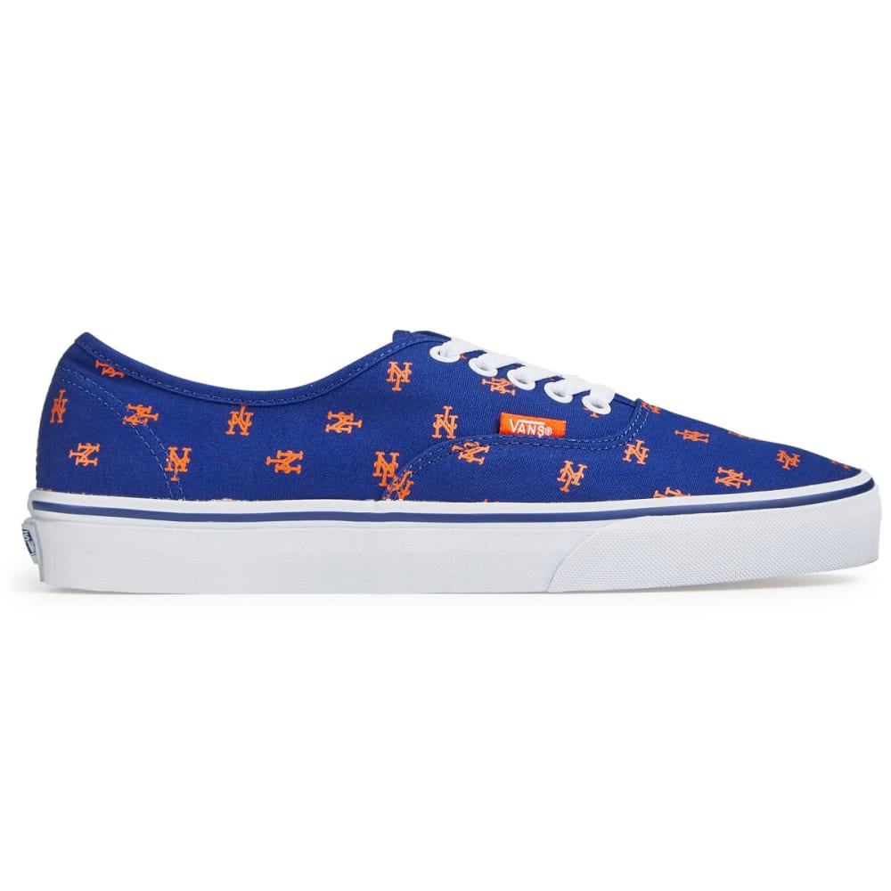 VANS Men's New York Mets MLB Authentic Skate Shoes, Blue - ROYAL BLUE