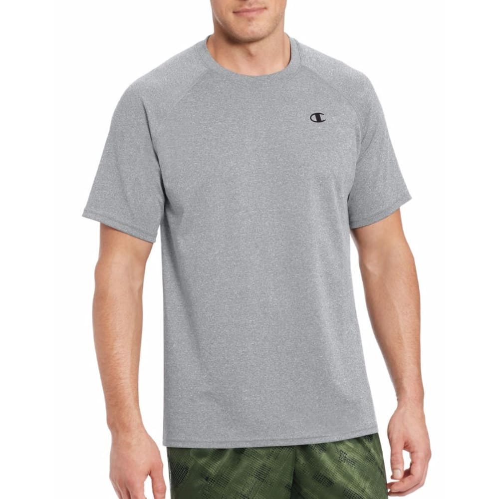 CHAMPION Men's Vapor Select Short-Sleeve Tee - OXFORD GREY-806