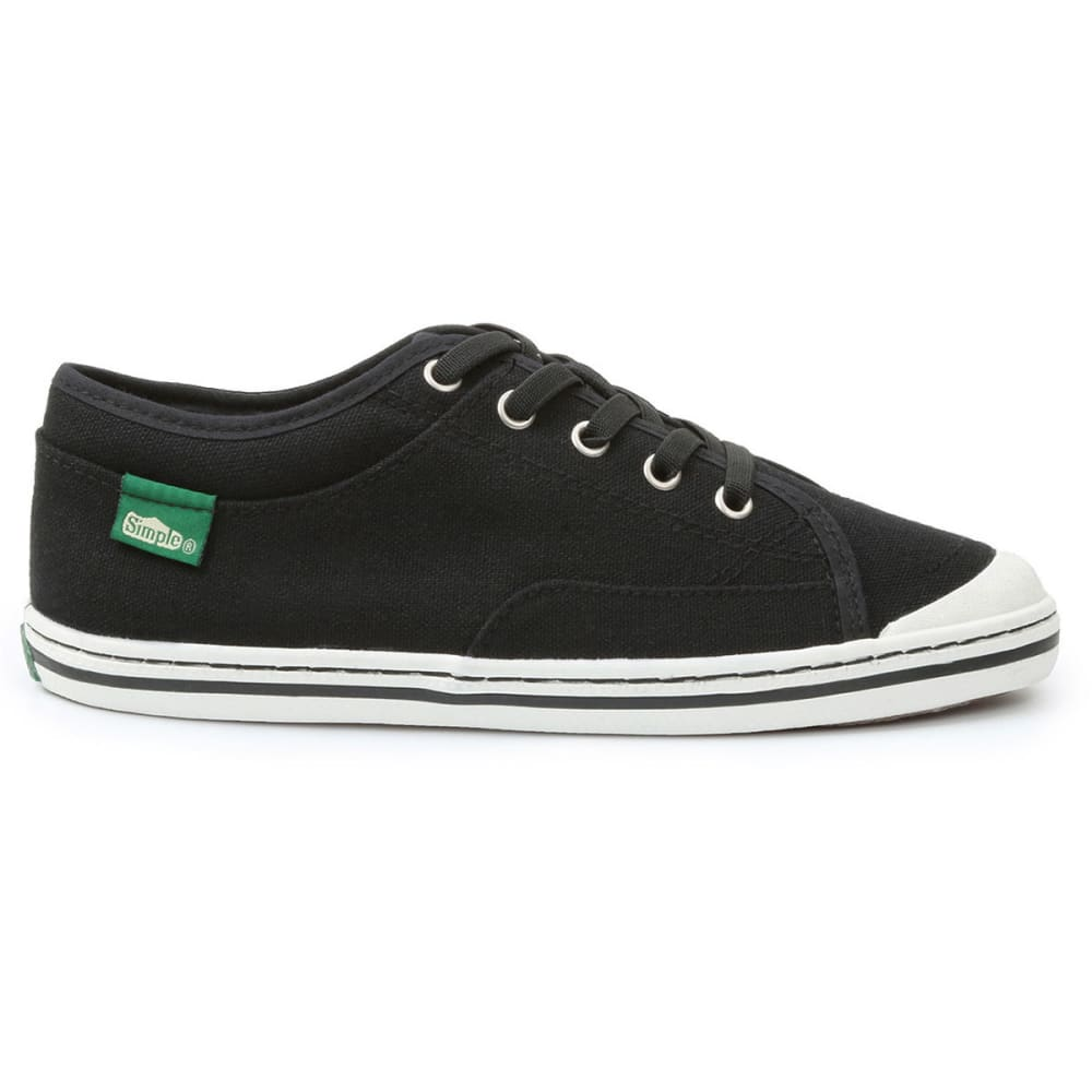 SIMPLE Women's Satire Canvas Shoes - BLACK
