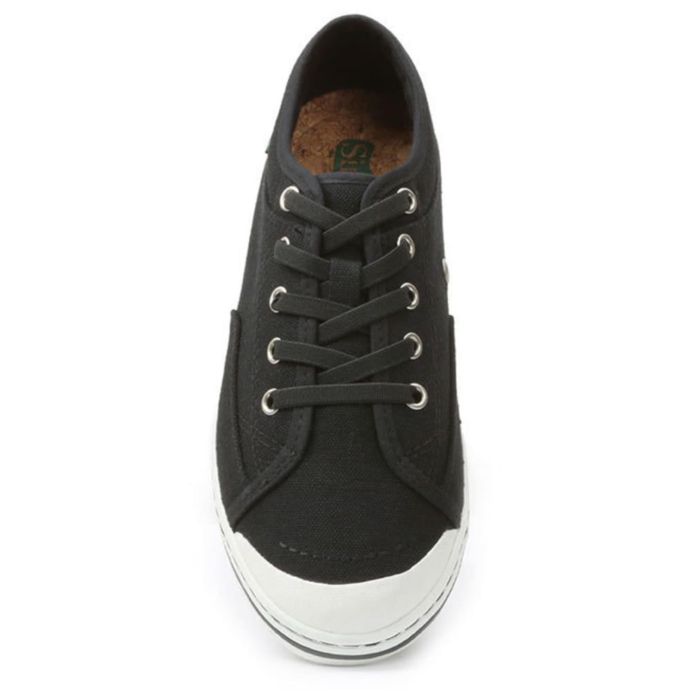 SIMPLE Women's Satire Canvas Shoes - BLACK
