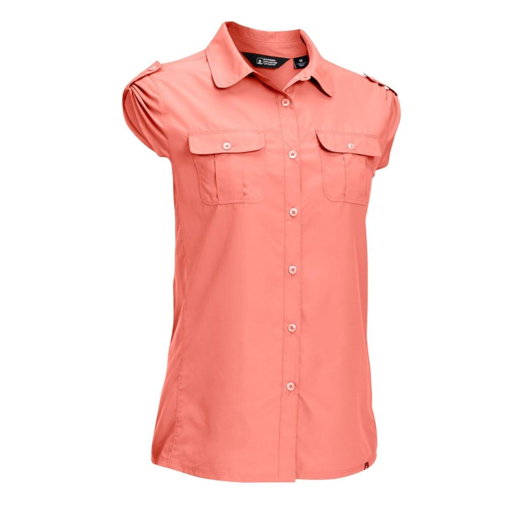 EMS Women's Compass UPF Short-Sleeve Shirt - BURNT CORAL