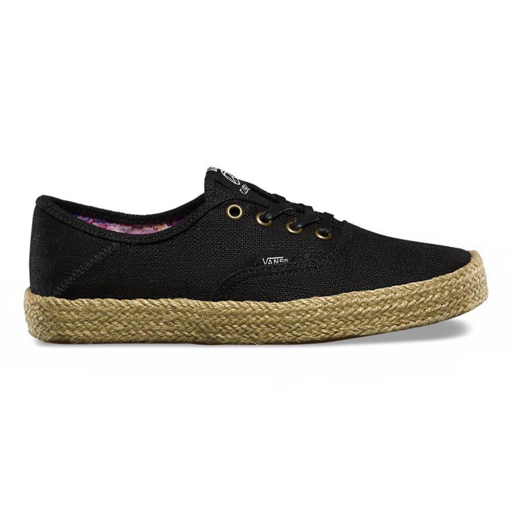 VANS Women's Authentic Espadrille Sneakers, Black - BLACK