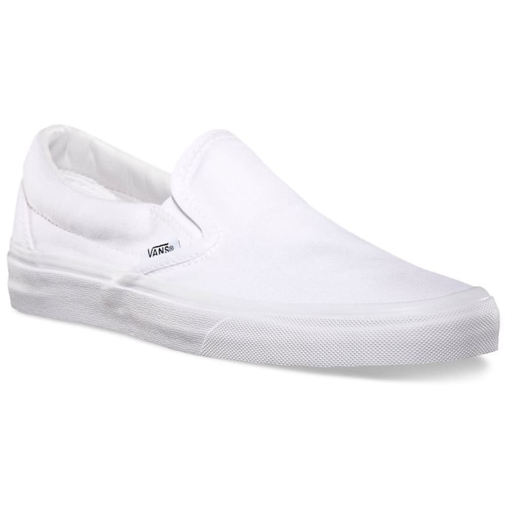 VANS Unisex Classic Slip-On Casual Shoes, True White - WHITE