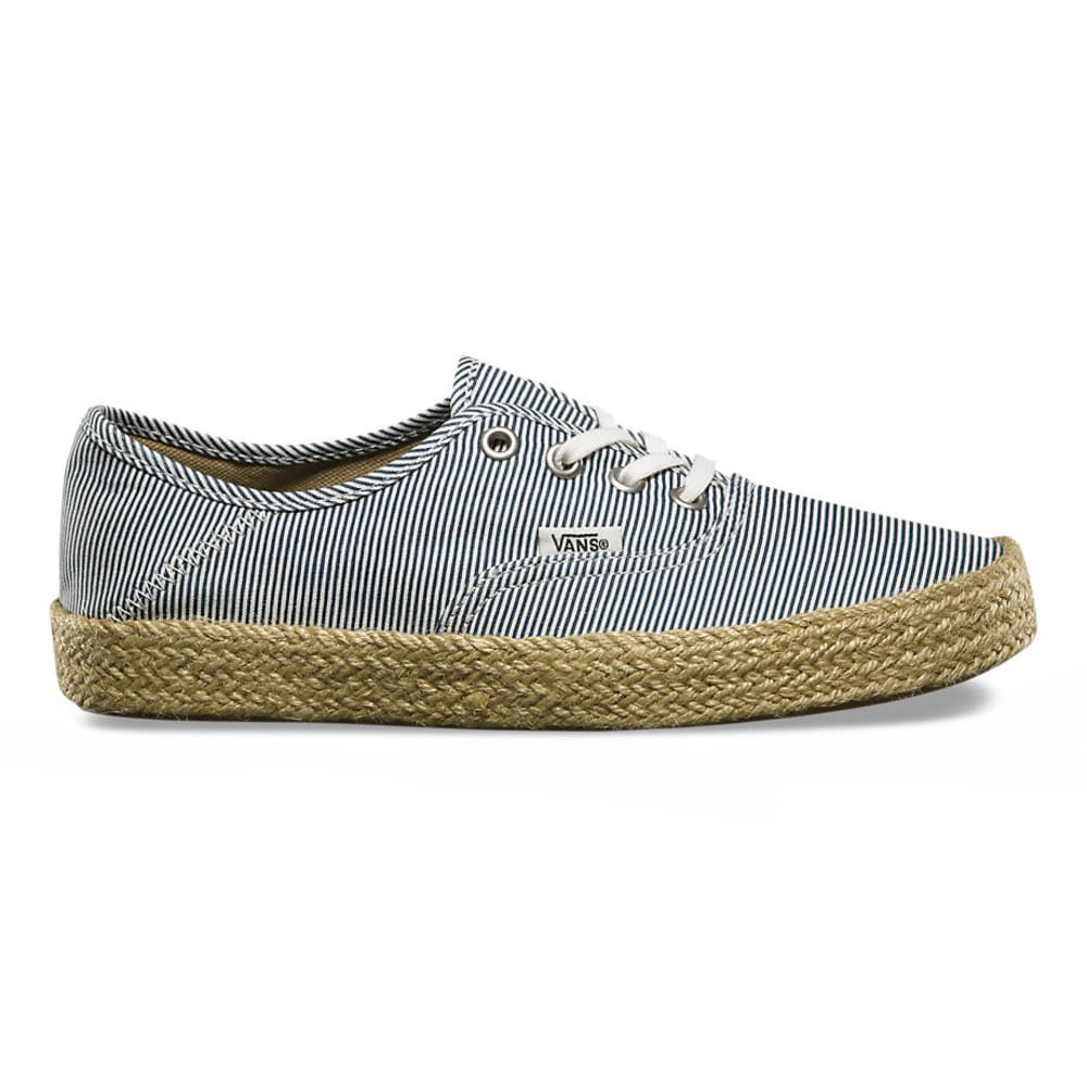 VANS Women's Authentic Espadrille Sneakers, Micro Stripes - NAVY STRIPES
