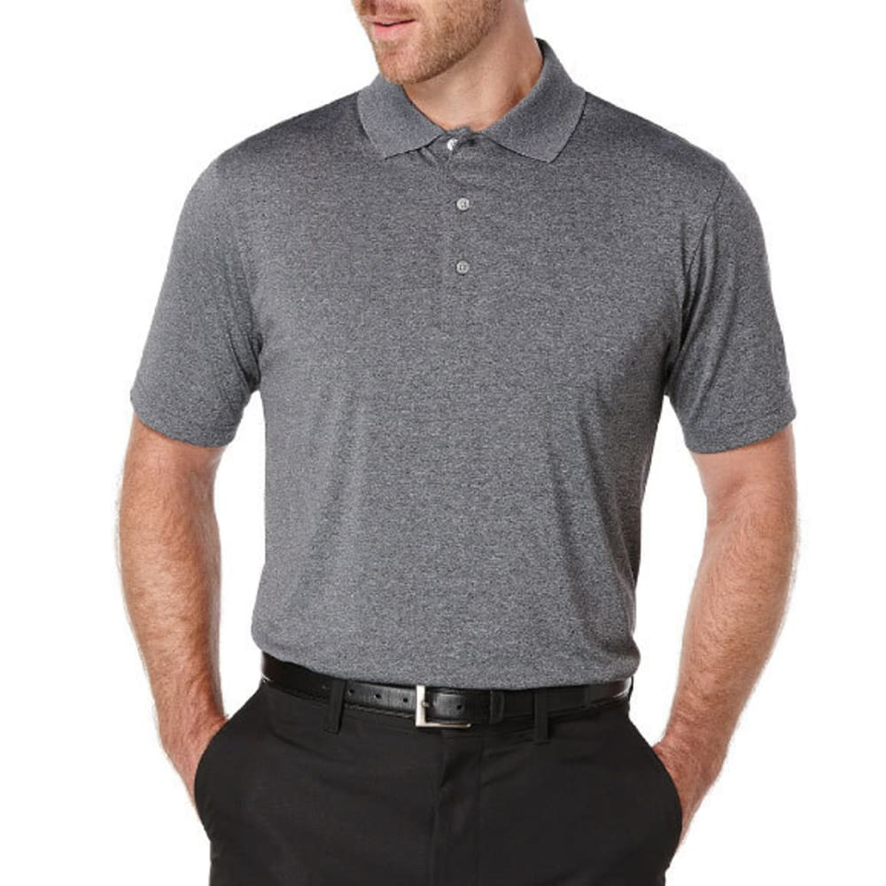 PGA TOUR APPAREL Men's Heather Shorts Sleeve Polo - MED HTR GRY-096