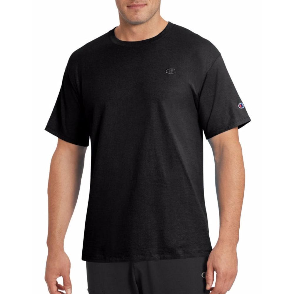 CHAMPION Men's Classic Jersey Short-Sleeve Tee - BLACK-003