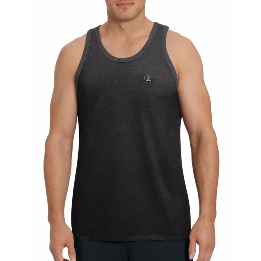 CHAMPION Men's Classic Jersey Ringer Tank Top - BLACK-003