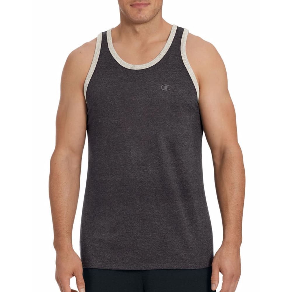 CHAMPION Men's Classic Jersey Ringer Tank Top XL