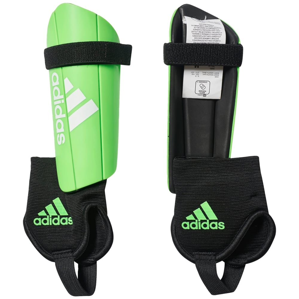 ADIDAS Youth Ghost Shin Guards - SOLAR GREEN/BLACK