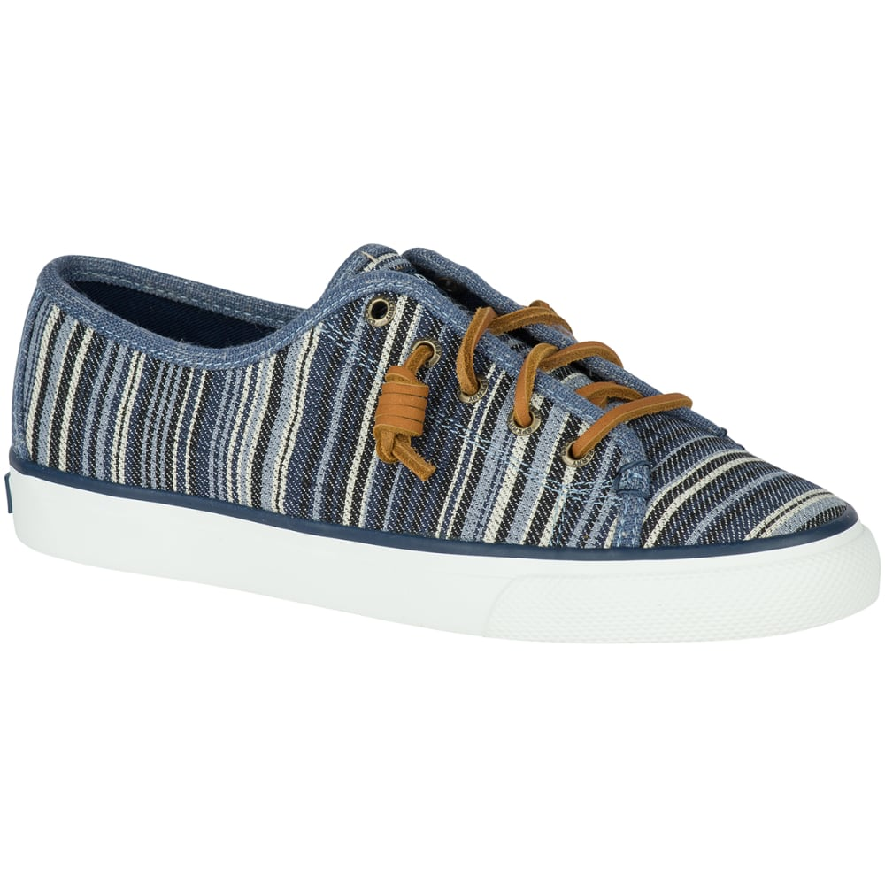 SPERRY Women's Seacoast Denim Stripe Sneakers, Navy - NAVY STRIPE