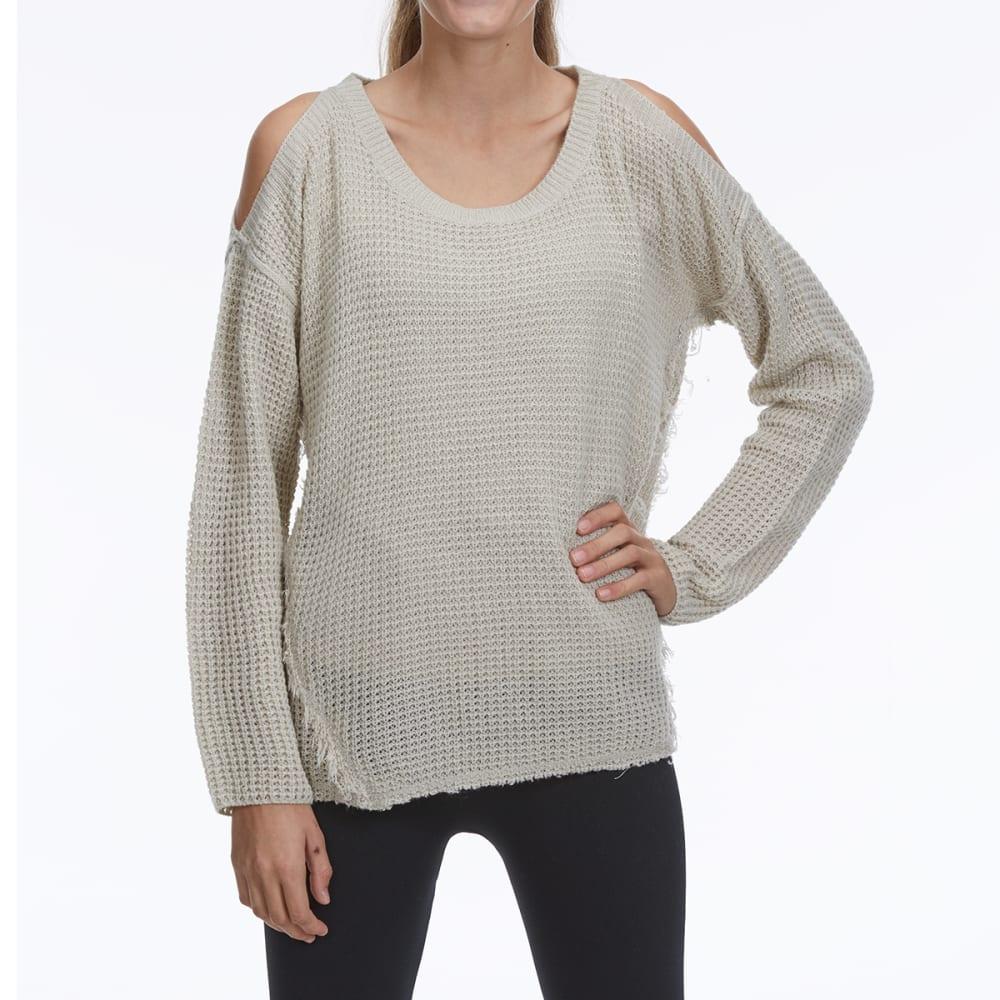 TAYLOR & SAGE Juniors' Cold-Shoulder Sweater - JAS-JASMINE