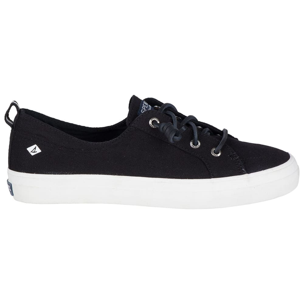Sperry Women's Crest Vibe Canvas Lace-Up Sneakers - Black, 5