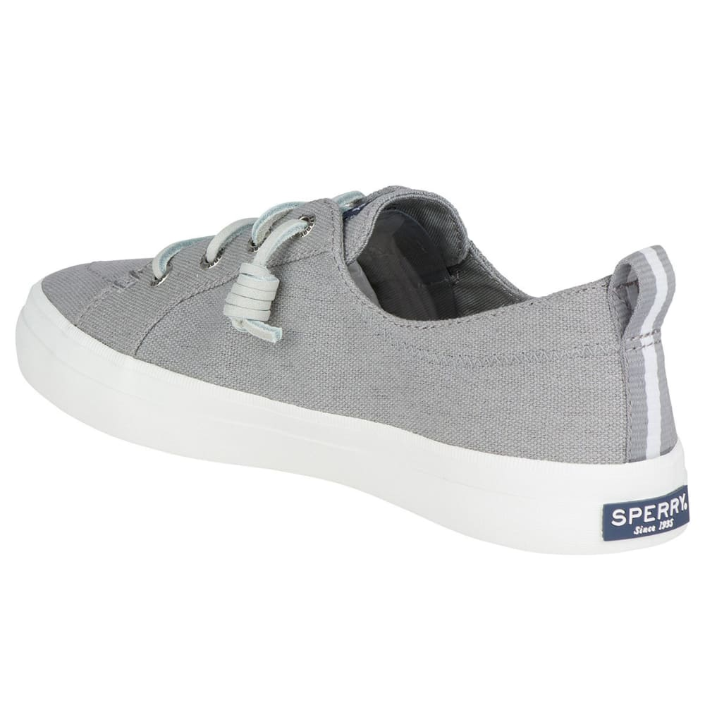 SPERRY Women's Crest Vibe Canvas Lace-Up Sneakers - GREY