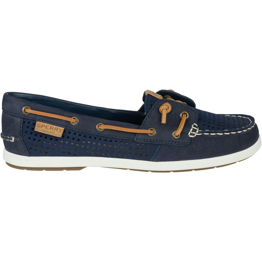 SPERRY Women's Coil Ivy Perforated Boat Shoes, Navy - NAVY