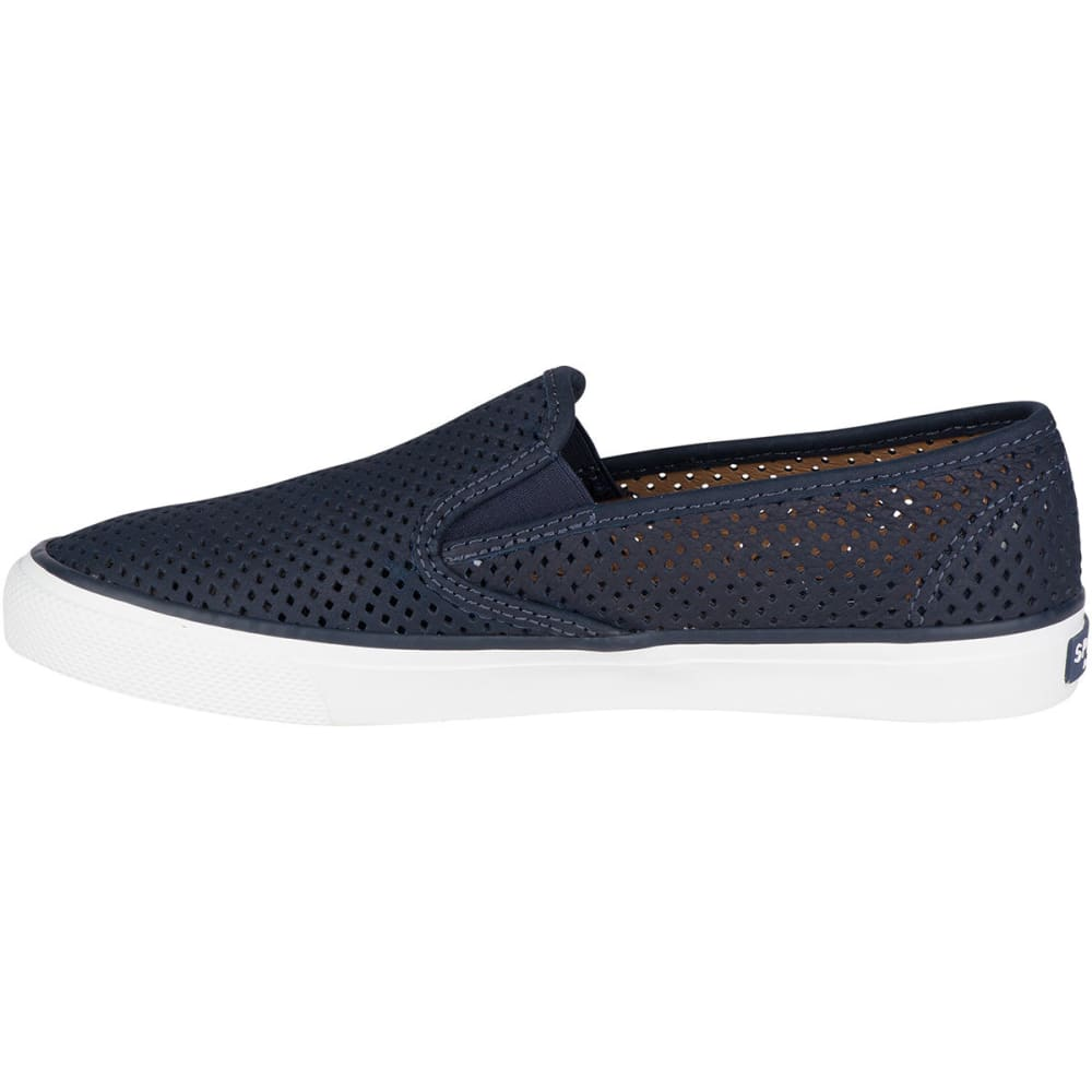 SPERRY Women's Seaside Perforated Leather Slip-On Sneakers - NAVY