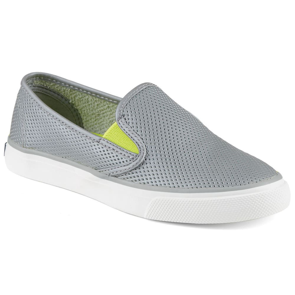 SPERRY Women's Seaside Perforated Leather Slip-On Sneakers - GREY