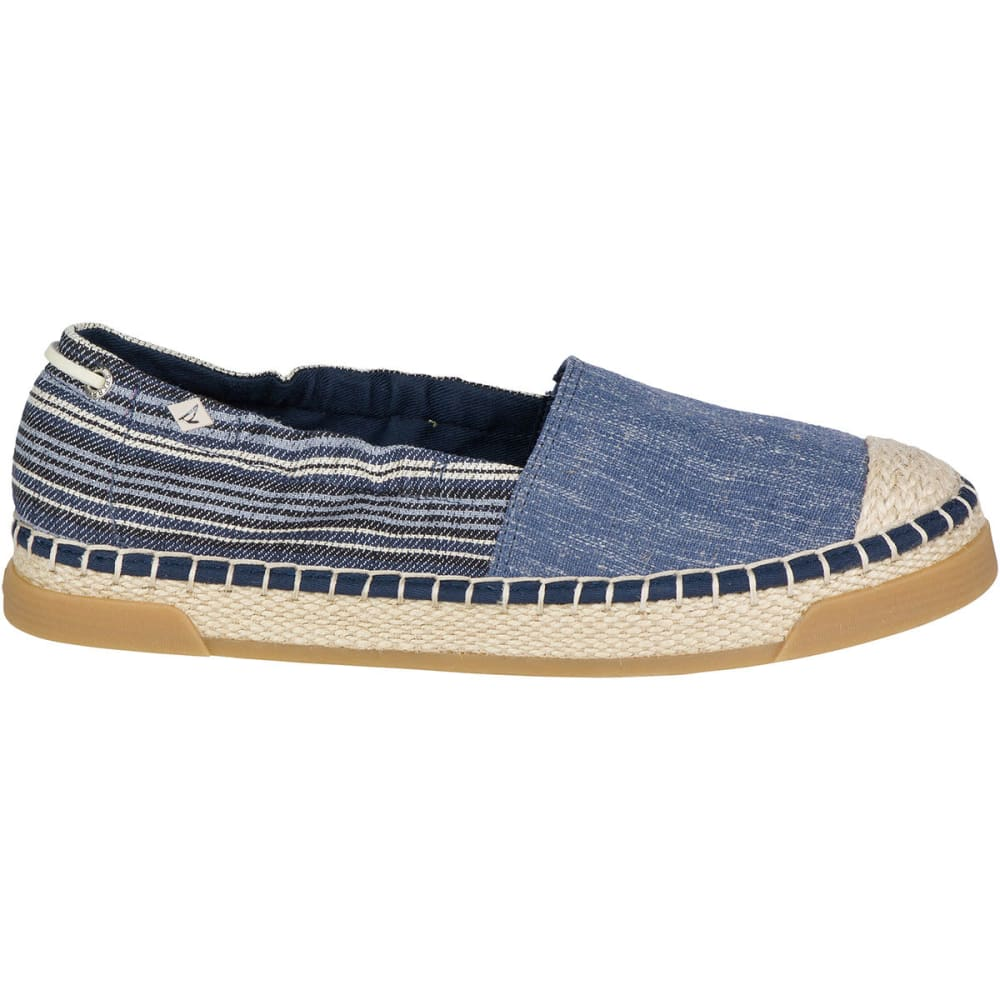 SPERRY Women's Laurel Reef Espadrille Shoes, Denim/Stripe - NAVY