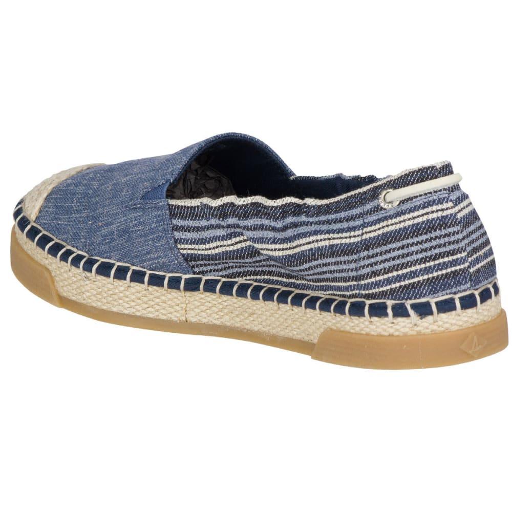 SPERRY Women's Laurel Reef Espadrille Shoes, Denim/Stripe - NAVY
