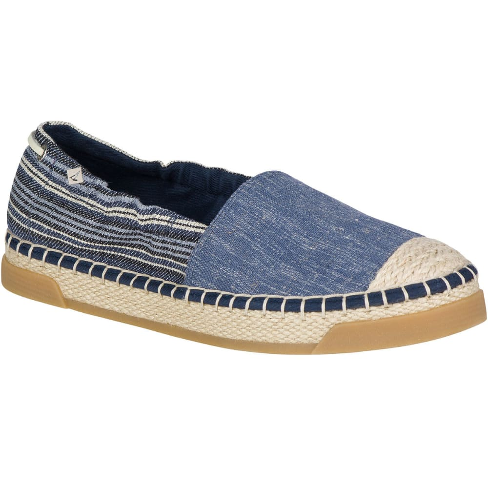 SPERRY Women's Laurel Reef Espadrille Shoes, Denim/Stripe 5