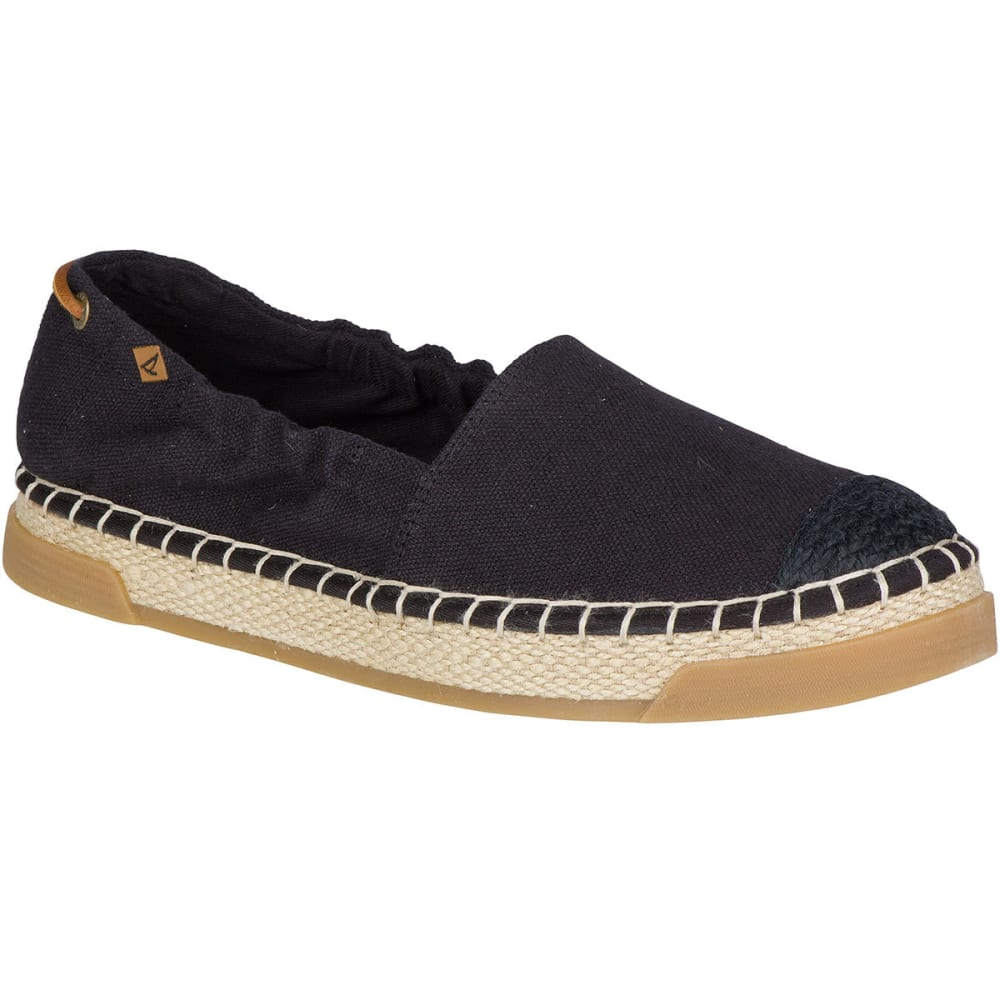 SPERRY Women's Laurel Reef Espadrille Shoes, Black - BLACK
