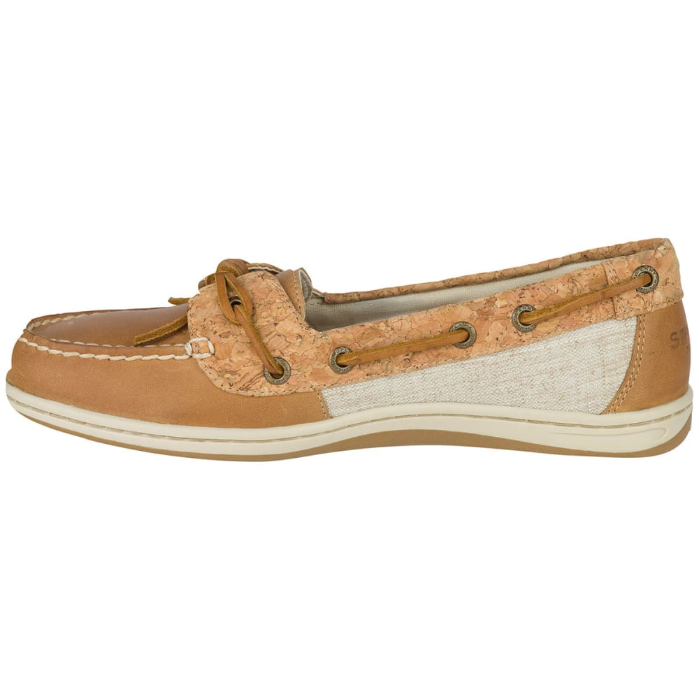 SPERRY Women's Barrelfish Cork Boat Shoes - TAN/CORK