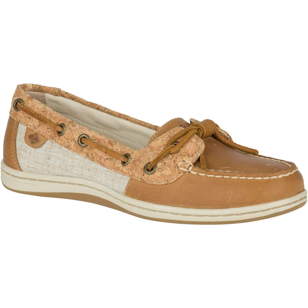 SPERRY Women's Barrelfish Cork Boat Shoes - TAN/CORK