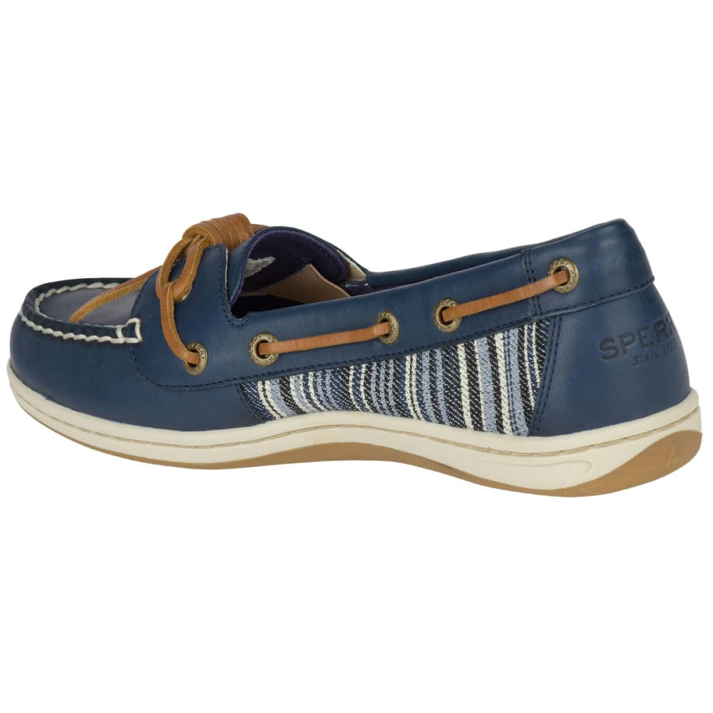 SPERRY Women's Barrelfish Denim Stripe Boat Shoes, Navy - NAVY