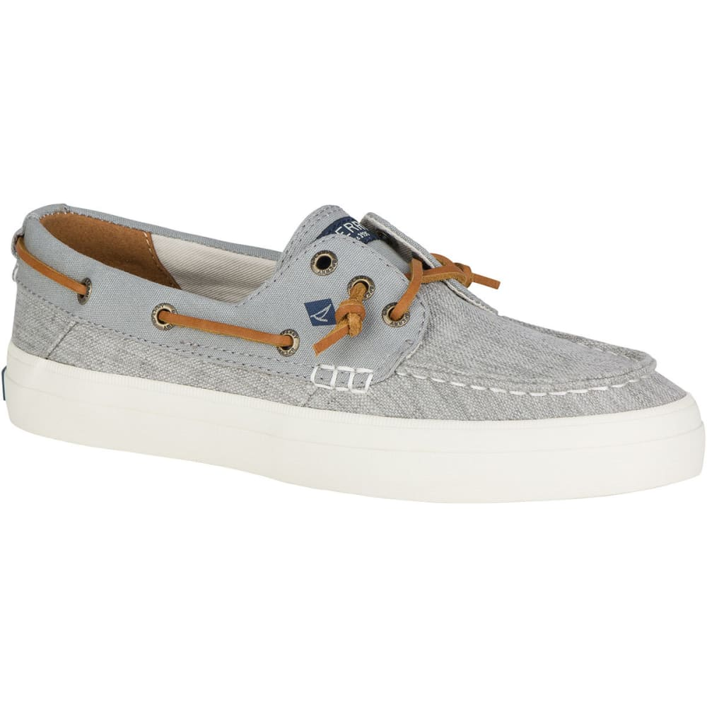 SPERRY Women's Crest Resort Linen Boat Shoes, 2-Tone Grey - GREY