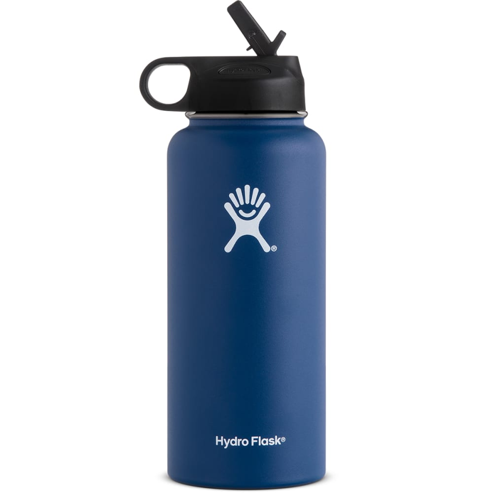 HYDRO FLASK 32 oz. Wide Mouth Straw Lid Bottle - COBALT