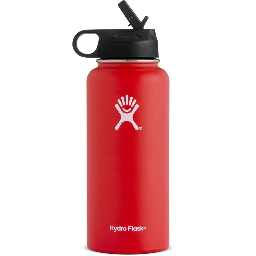 HYDRO FLASK 32 oz. Wide Mouth Straw Lid Bottle - LAVA