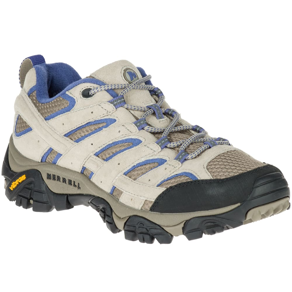 MERRELL Women's Moab 2 Ventilator Hiking Shoes, Aluminum/Marlin 5.5