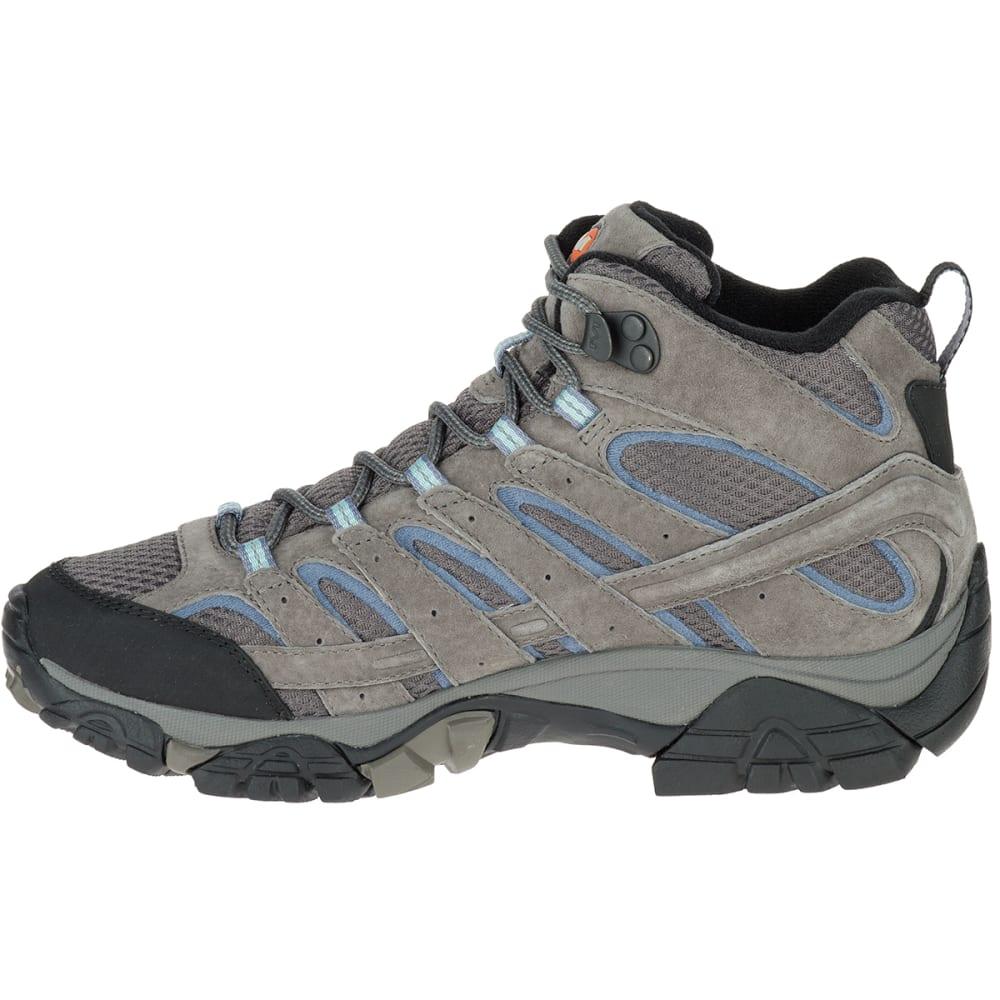 MERRELL Women's Moab 2 Mid Waterproof Hiking Boots, Granite - GRANITE