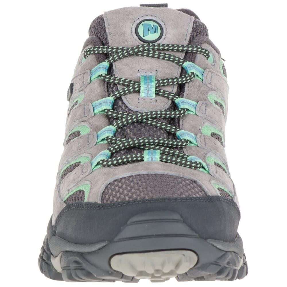 MERRELL Women's Moab 2 Low Waterproof Hiking Shoes, Drizzle/Mint - DRIZZLE/MINT