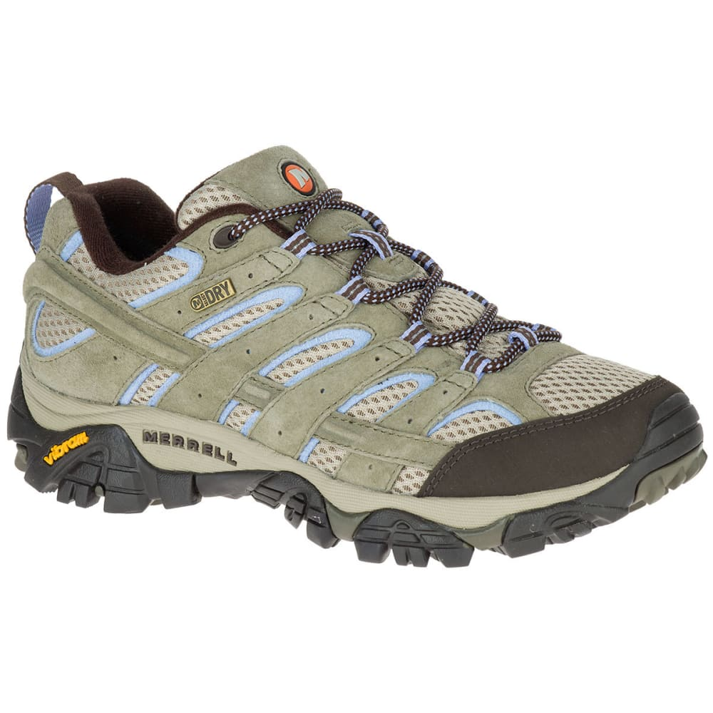 MERRELL Women's Moab 2 Low Waterproof Hiking Boots, Dusty Olive - DUSTY OLIVE