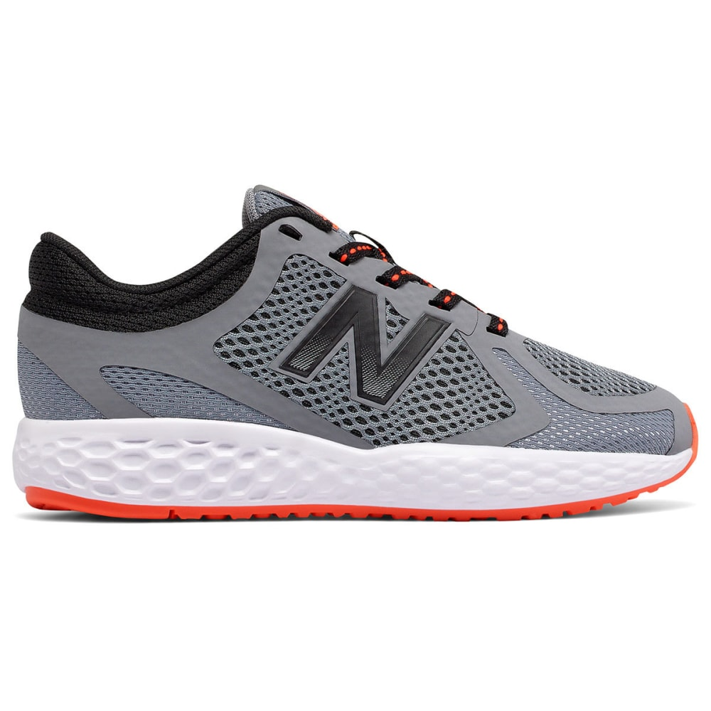 NEW BALANCE Boys' 720v4 Running Shoes, Grey/Orange 3.5