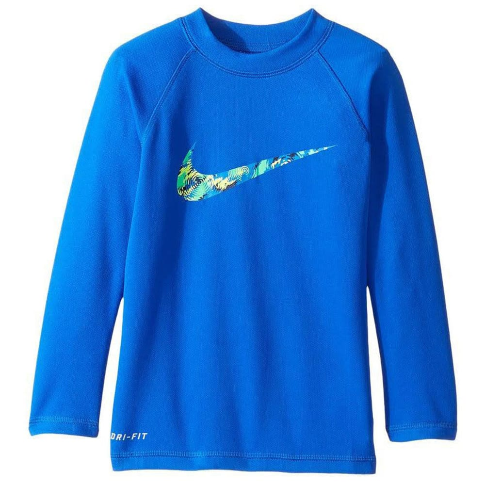 NIKE Boys' Watercamo Long-Sleeve Rash Guard - HYPER COBALT-425