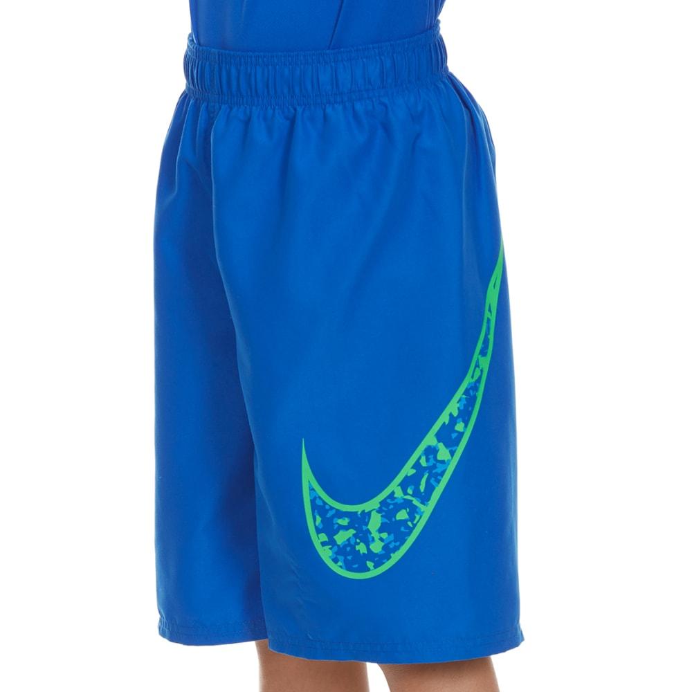 NIKE Boys' 9 in. Core Swoosh Swim Shorts - HYPER COBALT-425