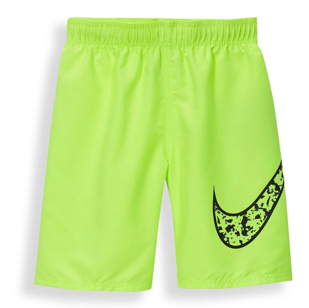 NIKE Boys' 9 in. Core Swoosh Swim Shorts - VOLT-737