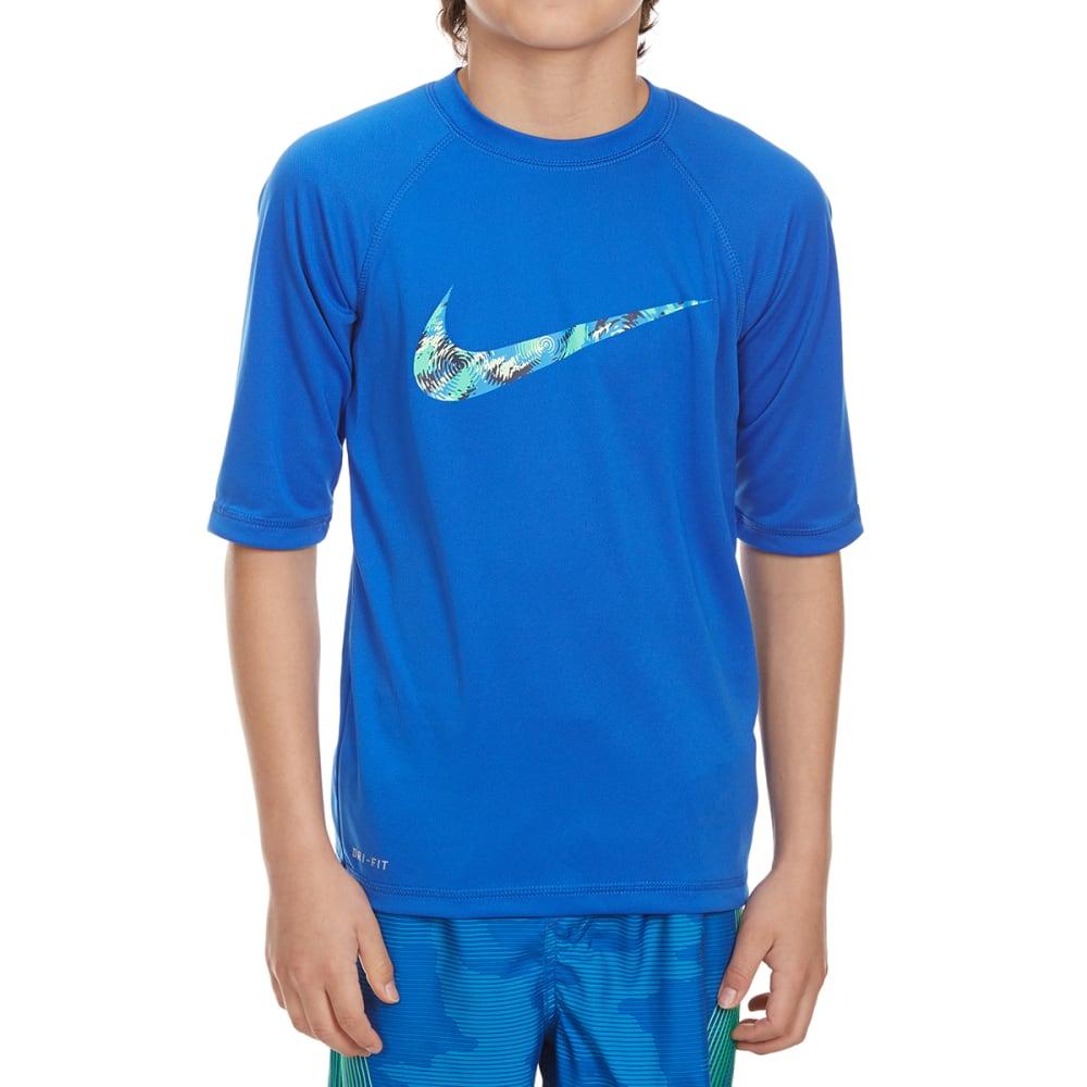 NIKE Boys' Watercamo Short-Sleeve Swim Top - HYPER COBALT-425