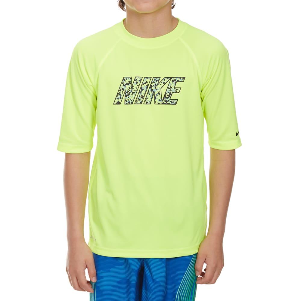 NIKE Boys' Convert Short-Sleeve Swim Top - VOLT-737